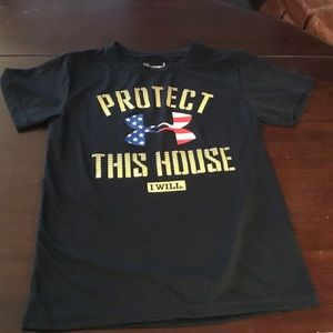 """Under Armour Black """"Protect this House"""" shirt  5"""